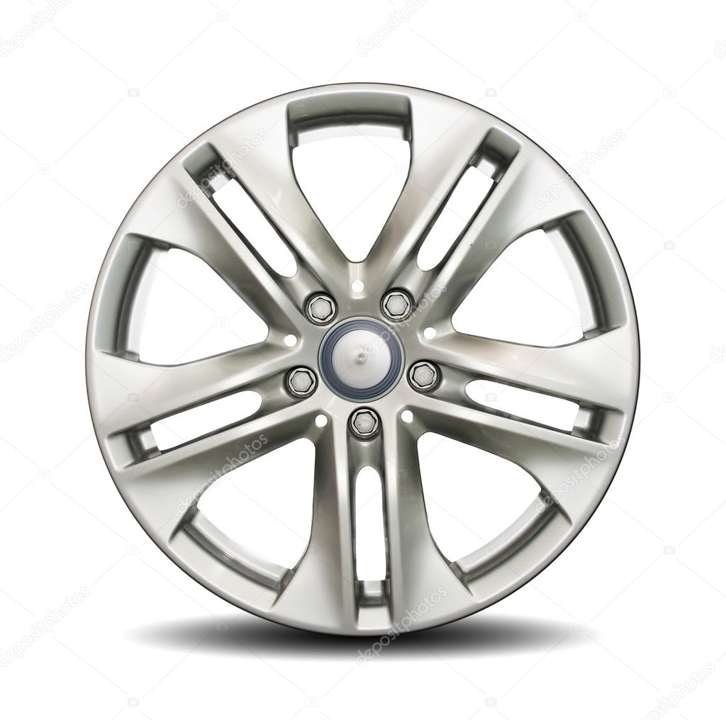 Car alloy rim on white background — Stock Photo #4755890