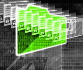 Internet and folder — ストック写真