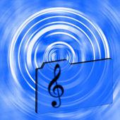Music folder — Stock Photo