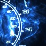 Burning speedometer — Stock Photo #5238890