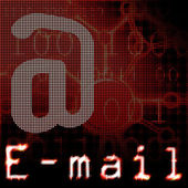 электронной почты — Стоковое фото