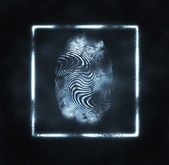 Illustration of the fingerprint — Stock Photo
