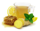 Hot ginger tea — Stock Photo