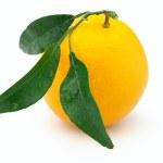 Orange with leaves — Stock Photo
