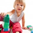 Cute little boy playing with blocks — Stock Photo #3974122