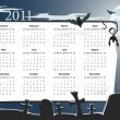 Vector Halloween calendar 2011 with cemetery - 图库矢量图片