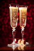 Two crystal champagne glasses — Stock Photo