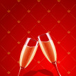 Royalty-Free Stock Immagine Vettoriale: Vector champagne glasses splashing
