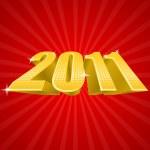 Vector illustration of golden 2011 year — Stock Vector #4322615