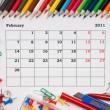 Calendar for February 2011 — Stock Photo