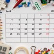 Stock Photo: Calendar for April 2011