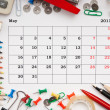 Stock Photo: Calendar for May 2011