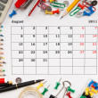 Stock Photo: Calendar for August 2011