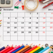 Stock Photo: Calendar for December 2011