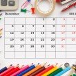 Calendar for December 2011 — Stock Photo