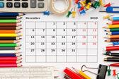 Kalendář na prosinec 2010 — Stock fotografie