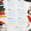 Schedule for the week — Stock Photo #3987394