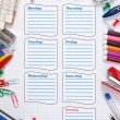 School schedule for the week — Stock Photo #4027603
