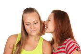 Deux adolescentes commérages — Photo