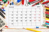 Calendar for January 2011 — Stock Photo