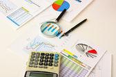 Working paper chart — Stock Photo