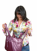 Woman with a bag — Stockfoto