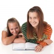 Two teenage girls reading — Stock Photo #4208336
