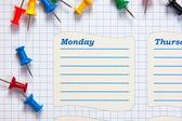 School schedule for the week — Stock Photo
