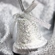 Christmas silver decoration — Stock Photo