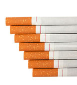 Stairway to hell out of cigarettes — Stock Photo