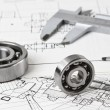 Technical drawing and calliper — Stock Photo #4656153