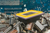 Pile old electronic chip — Stock Photo