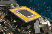 Chip eletrônico antigo de pilha — Foto Stock