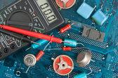 Vieux composants électroniques — Photo