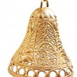 Stock Photo: Christmas gold bell