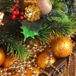 Christmas decoration in chest — Stock Photo #4930527