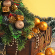 Royalty-Free Stock Photo: Christmas decoration in chest