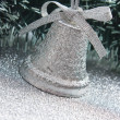 Christmas silver bell — Stock Photo