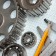 Caliper with gears and bearings - Foto Stock