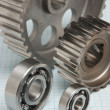 Gears and bearings - Stockfoto