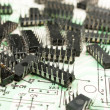 Old electronic components — Foto de Stock