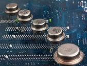 Oude silicium chip — Stockfoto