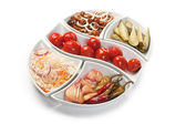Salát, nakládané zeleniny — Stock fotografie