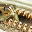 Locking zipper — Stock Photo