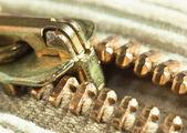 Locking zipper — Stock Photo