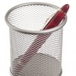 Basket with pencils and pens — Stockfoto