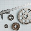 Caliper with gears and bearings — Stock Photo