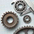 Caliper with gears and bearings — Stockfoto