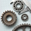 Caliper with gears and bearings — Stock fotografie