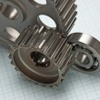 Gears and bearings - Foto de Stock